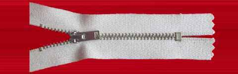 Metal Type 4, Cotton Fabric Zipper